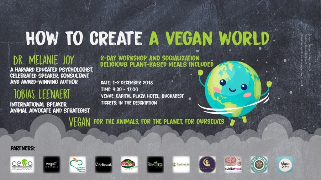 "Workshop C.E.V.A. (""Centre for Effective Vegan Activism""), in premiera in Romania, 1-2 dec Bucuresti!"